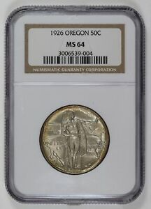 1926 OREGON TRAIL HALF DOLLAR NGC MS 64