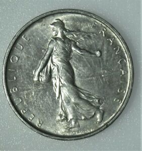 1964 FRANCE WORLD COIN SILVER 5 FRANCS