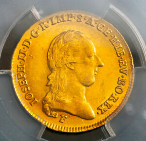Click now to see the BUY IT NOW Price! 1787 AUSTRIA EMPEROR JOSEPH II. GOLD 1/2 SOUVERAIN COIN.  5.54GM   PCGS AU 58