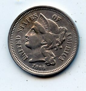 1866 THREE CENT 3C NICKEL    SEE PROMO