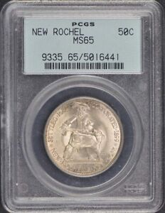 NEW ROCHELLE 1938 50C SILVER COMMEMORATIVE PCGS MS65