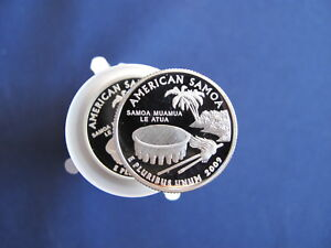 Click now to see the BUY IT NOW Price! 2009 S AMERICAN SAMOA DCAM PROOF QUARTER ROLL OF 40 COINS