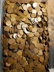 250 LINCOLN WHEAT CENTS 1909 TO 1939 P D S TEENS 20'S 30'S PENNY BAG 5 ROLLS