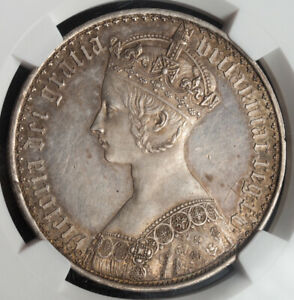 Click now to see the BUY IT NOW Price! 1847 GREAT BRITAIN QUEEN VICTORIA.  PROOF SILVER GOTHIC CROWN. NGC PF