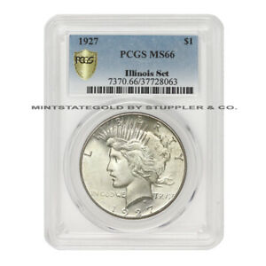 Click now to see the BUY IT NOW Price! 1927 $1 SILVER PEACE PCGS MS66 ILLINOIS SET PEDIGREE GEM GRADE PHILADELPHIA COIN