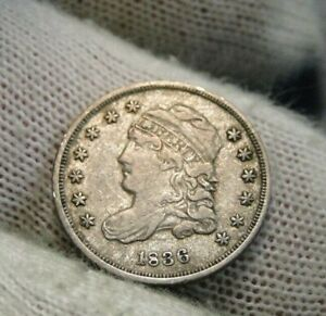 1836 CAPPED BUST HALF DIME 5C CENTS   NICE COIN   33