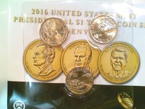 2016 D 3 COIN UNITED STATES PRESIDENTIAL $1 COIN MINT SET