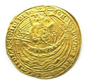 Click now to see the BUY IT NOW Price! 14TH CENTURY MEDIEVAL GOLD NOBLE OF KING EDWARD III LONDON SERIES G 1356   1361