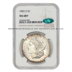 Click now to see the BUY IT NOW Price! 1882 S $1 SILVER MORGAN NGC MS68  CAC CERTIFIED SAN FRANCISCO MINT GEM GRADED