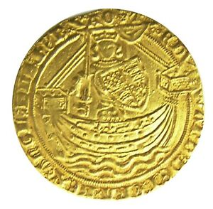 Click now to see the BUY IT NOW Price! 14TH CENTURY MEDIEVAL GOLD NOBLE OF KING EDWARD III LONDON TREATY PERIOD 1361