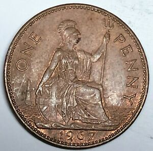 C4898    GREAT BRITAIN     COIN     LARGE PENNY    1967