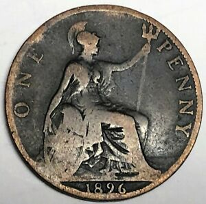 C5183    GREAT BRITAIN     COIN     LARGE PENNY    1896