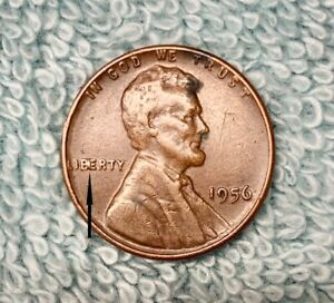 1956 P BROWN LINCOIN WHEAT PENNY BIE MINT ERROR OK CONDITION