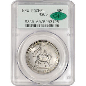 1938 US NEW ROCHELLE NEW YORK SILVER COMMEMORATIVE HALF DOLLAR   PCGS MS65 CAC
