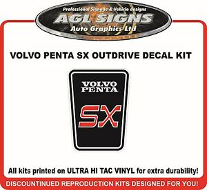 VOLVO PENTA SX    Outdrive Decal  - EUR 11.38
