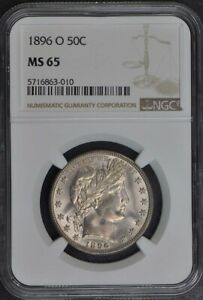 Click now to see the BUY IT NOW Price! 1896 O BARBER HALF DOLLAR 50C NGC MS65