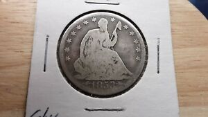1853 O SEATED LIBERTY HALF DOLLAR US SILVER COIN ARROWS RAYS