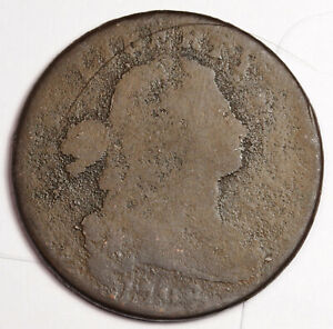 1798 LARGE CENT.   NATURAL UNCLEANED.  FULL DATE.  157988