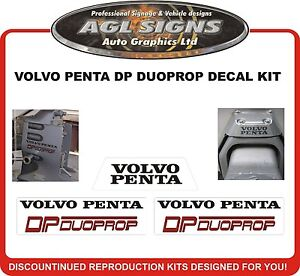VOLVO PENTA DP DUOPROP    Outdrive Sticker Kit   - EUR 16.74