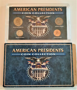 AMERICAN PRESIDENT'S COIN COLLECTION PENNY QUARTER DIME NICKEL COLLECTABLE COINS