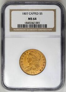 Click now to see the BUY IT NOW Price! 1807 $5 GOLD CAPPED BUST HALF EAGLE   NGC MS64   US  COIN