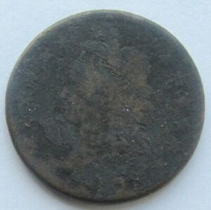 1808 CLASSIC HEAD LARGE CENT  DATE FINE DETAIL CORRODED FULL DATE