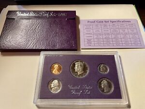 1987   S PROOF SET UNITED STATES US MINT ORIGINAL GOVERNMENT PACKAGING BOX