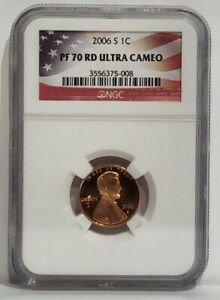 LOW POP 2006 S 1 CENT LINCOLN MEMORIAL NGC PF 70 RD ULTRA CAMEO