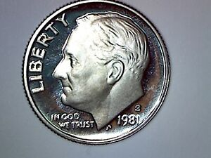 TYPE 2 1981 S PROOF DIME  REAL DEAL