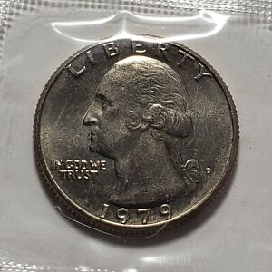 1979 D WASHINGTON QUARTER IN CELLO FROM U.S. MINT UNCIRCULATED SET  B