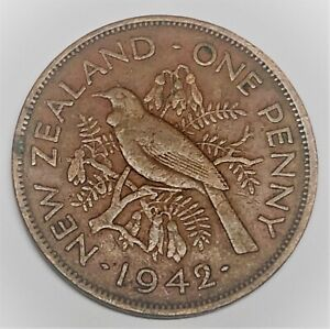 C6094    NEW ZEALAND   COIN      LARGE PENNY    1942