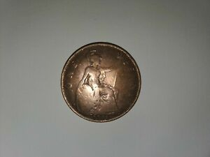 1918 BRITAIN ENGLAND BRITISH ENGLISH LARGE CENT PENNY CURRENCY KING GEORGE V