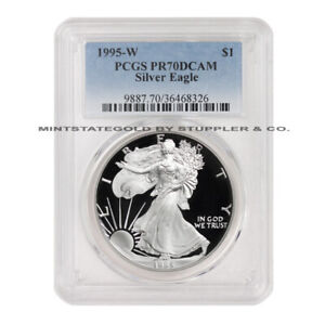 Click now to see the BUY IT NOW Price! KEY DATE 1995 W $1 SILVER EAGLE PCGS PR70DCAM 1 OZ DEEP CAMEO PROOF GRADED COIN