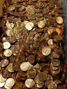 1959   60'S 70'S 80'S ROLL RED BU LINCOLN CENTS P D S 50 PENNIES MIXED LOT LOOK