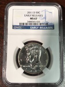 NGC 2011 D MS 67 KENNEDY HALF DOLLAR ULTRA CAMEO AS PICTURED