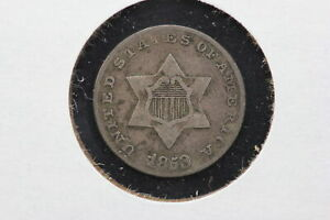 1853 3 CENT SILVER TRIME VF  18PP