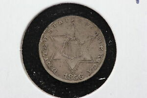 1856 3 CENT SILVER TRIME XF  1GFG