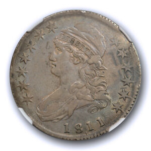 1811/10 50C CAPPED BUST HALF DOLLAR NGC XF 45 EXTRA FINE TO ABOUT UNCIRCULATE