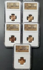 5 COIN 2009 LINCOLN PRESIDENCY HIGH GRADES SET NGC PF69 UCAM   P & D & 2 SMS