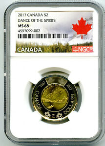 Click now to see the BUY IT NOW Price! 2017 CANADA $2 TOONIE NGC MS68 DANCE OF SPIRITS 150TH TWO DOLLAR COIN TOP POP 3