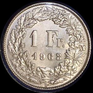 Click now to see the BUY IT NOW Price! SWITZERLAND 1963 1 FRANC OLD WORLD SILVER COIN  HIGH GRADE