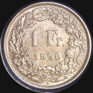 Click now to see the BUY IT NOW Price! SWITZERLAND 1960 1 FRANC OLD WORLD SILVER COIN  HIGH GRADE