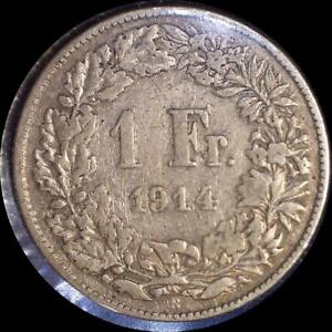 Click now to see the BUY IT NOW Price! SWITZERLAND 1914 1 FRANC OLD WORLD SILVER COIN
