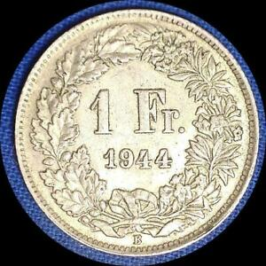Click now to see the BUY IT NOW Price! SWITZERLAND 1944 1 FRANC OLD WORLD SILVER COIN HIGH GRADE