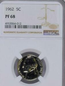 Click now to see the BUY IT NOW Price! USA 1962 NICKEL PROOF 68 NGC   WOULD YOU PAY $21 150 FOR THIS? I HOPE NOT BUT