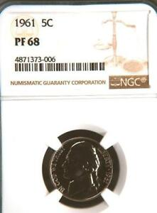 Click now to see the BUY IT NOW Price! USA 1961 NICKEL PROOF 68 NGC   WOULD YOU PAY $17 625 FOR THIS? I HOPE NOT BUT