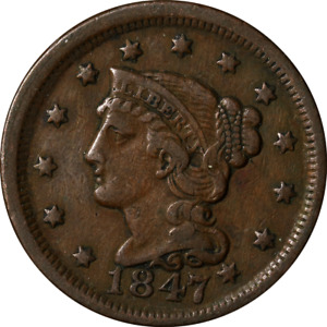 1847 LARGE CENT GREAT DEALS FROM THE EXECUTIVE COIN COMPANY