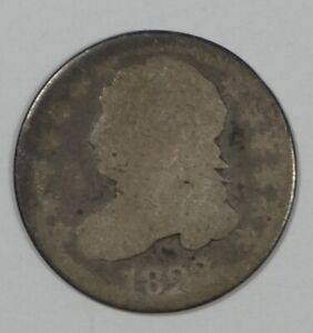 1823 CAPPED BUST SILVER DIME AG SILVER 10C