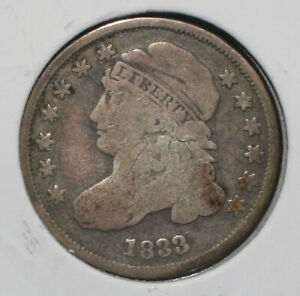 1833 CAPPED BUST SILVER DIME   07736