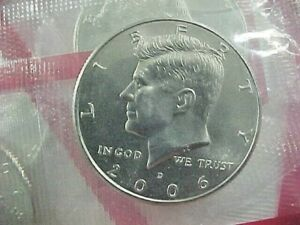 2006 D   KENNEDY HALF DOLLARS FROM MINT SETS BU  IN CELLO